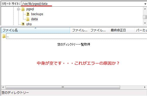 PostgreSQLが起動しない!